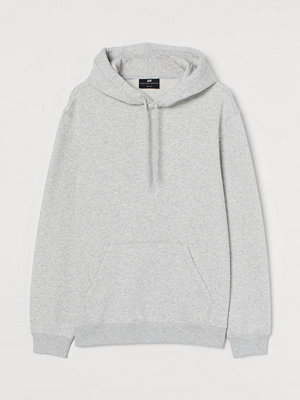 H&M Huvtröja Relaxed Fit grå