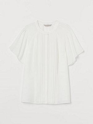 Blusar - H&M Blus med stråveck vit