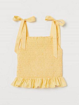H&M Smockat linne i bomull gul