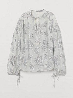 H&M Jacquardmönstrad blus beige