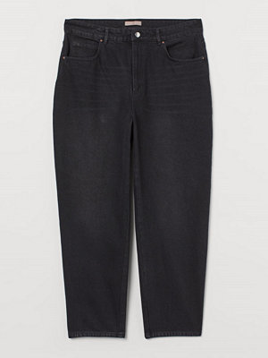 Jeans - H&M H & M+ Tapered High Jeans grå