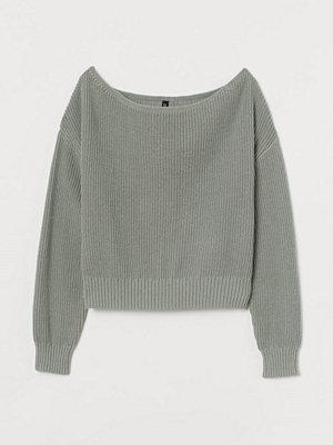 H&M Off shoulder-tröja grön