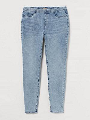 Jeans - H&M H & M+ Skinny Regular Jeggings blå