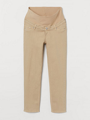 Jeans - H&M MAMA Straight Ankle Jeans beige