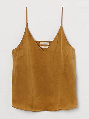 H&M V-ringat linne i siden gul