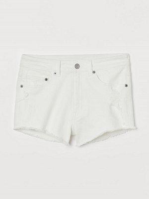H&M Jeansshorts High Waist vit