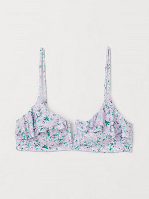 H&M Vadderad bikini-bh lila