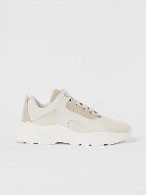 H&M Sneakers med grov sula vit