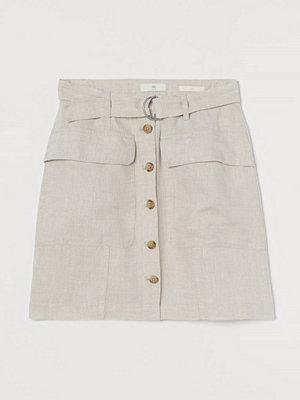 H&M Utilitykjol i linne beige