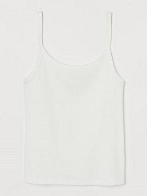 H&M Ribbat linne vit