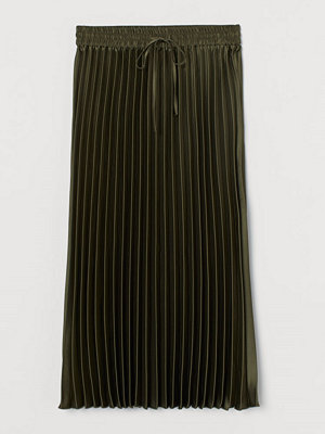 H&M Plisserad kjol grön