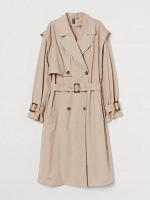 H&M Trenchcoat i bomullstwill beige