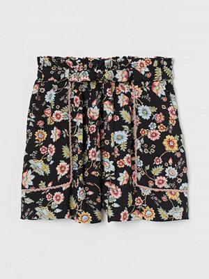 Shorts & kortbyxor - H&M Shorts med knytskärp svart