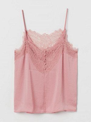 H&M Topp med spets rosa