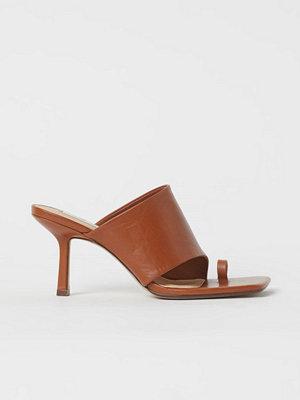 H&M Slip in-sandaletter i läder beige