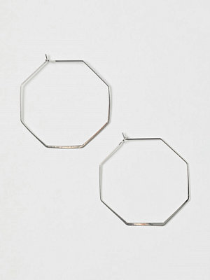 H&M Åttakantiga örhängen silver