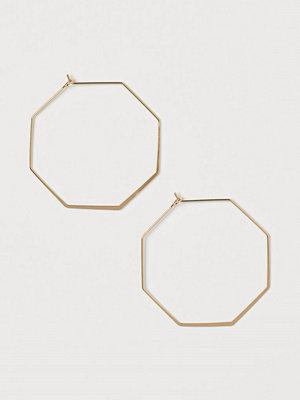 H&M Åttakantiga örhängen guld
