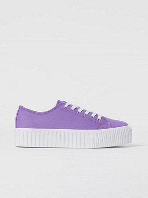 H&M Platåsneakers lila