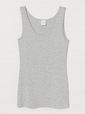 H&M Linne med spets grå