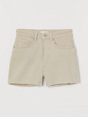 H&M Jeansshorts High Waist beige