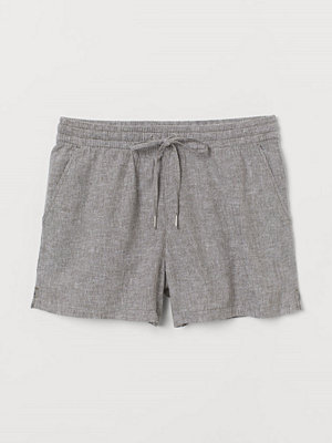 Shorts & kortbyxor - H&M Shorts i linmix grön