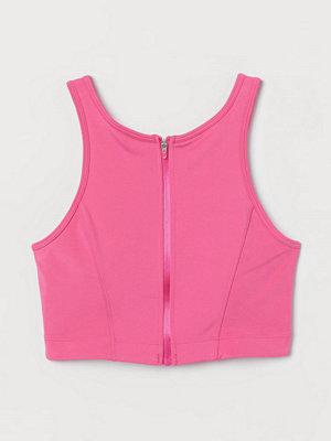 H&M Vadderad sport-bralette rosa