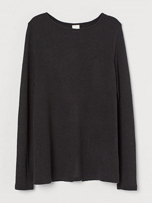 H&M Tröja med omlottrygg svart