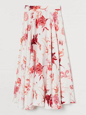 H&M Cirkelskuren kjol röd