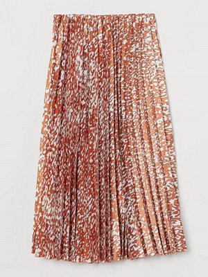 H&M Plisserad kjol orange