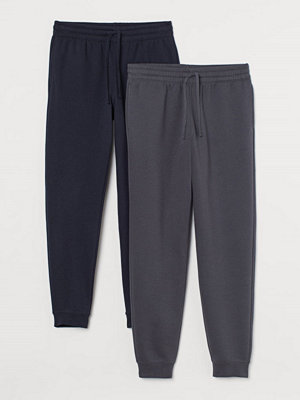Byxor - H&M 2-pack sweatpants grå