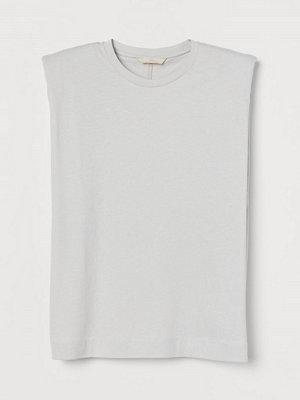 H&M Tanktop med axelvaddar grå