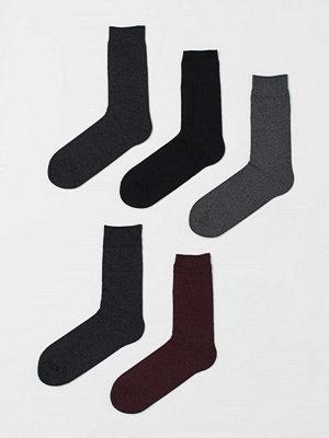 H&M 5-pack strumpor röd