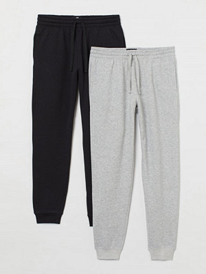 Byxor - H&M 2-pack sweatpants svart