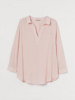 H&M H & M+ V-ringad blus rosa