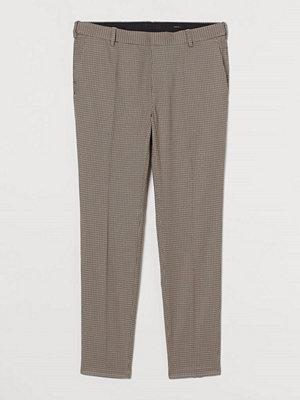 H&M Kostymbyxa Skinny Fit beige