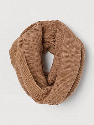 Halsdukar & scarves - H&M Stickad tubhalsduk beige
