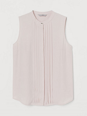 H&M Ärmlös blus med stråveck rosa