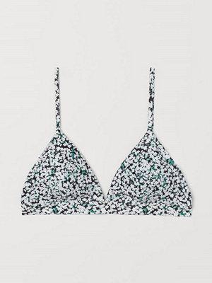 Bikini - H&M Vadderad trekantsbikini-bh svart