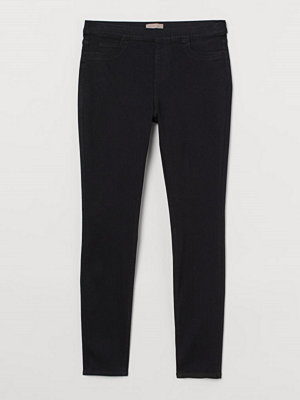 Jeans - H&M H & M+ Skinny Regular Jeggings svart