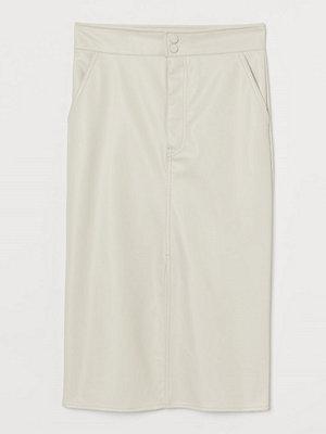 H&M Vadlång kjol brun