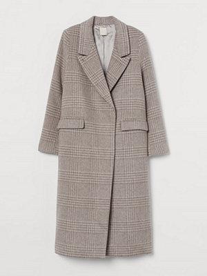 H&M Lång kappa i ullmix grå