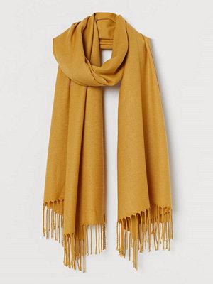 Halsdukar & scarves - H&M Vävd scarf gul