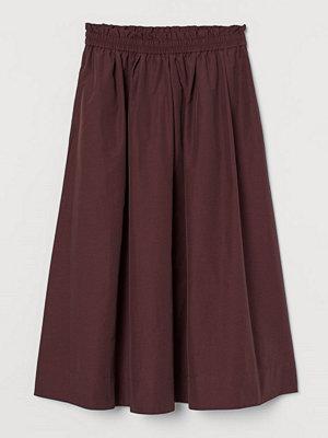 H&M Vadlång kjol röd