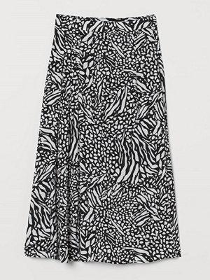 H&M Mönstrad kjol svart