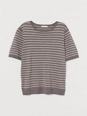 H&M Finstickad tröja brun