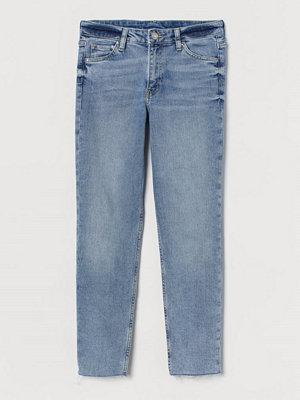 Jeans - H&M Girlfriend Regular Ankle Jeans blå