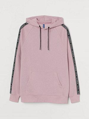 Street & luvtröjor - H&M Huvtröja med ripsband rosa