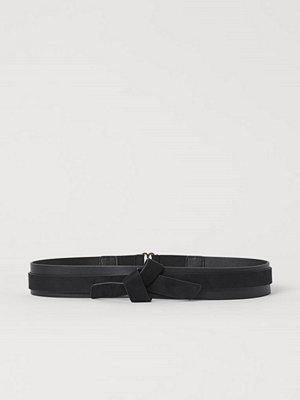 H&M Midjeskärp med knut svart