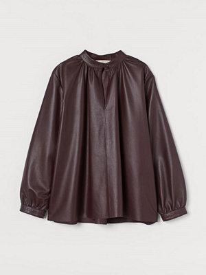 H&M Blus i läder röd