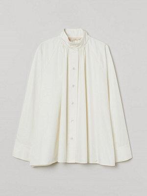 H&M Oversized blus i silkesmix vit